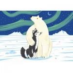 Puzzle-Michele-Wilson-K160-24 Puzzle en Bois - WWF - L'Ours et le Husky