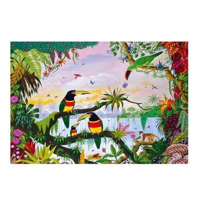 Puzzle-Michele-Wilson-K162-100 Puzzle en Bois découpé à la Main - Thomas - La Jungle