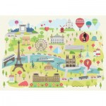 Puzzle-Michele-Wilson-K305-24 Puzzle en Bois découpé à la Main - Paris Illustré