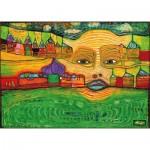 Puzzle-Michele-Wilson-K590-12 Puzzle en Bois découpé à la Main - Friedensreich Hundertwasser - Irinaland sur les Balkans