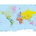 Puzzle-Michele-Wilson-K75-50 Puzzle en Bois découpé à la Main - Carte du Monde