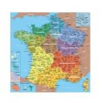 Puzzle-Michele-Wilson-K80-100 Puzzle en Bois découpé à la Main - Carte de France des Départements