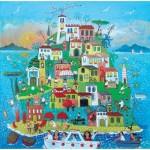 Puzzle en Bois découpé à la Main - Alessandra Puppo - Île en Fête