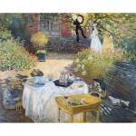 Puzzle en Bois découpé à la Main - Claude Monet - Le Déjeuner