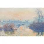 Puzzle en Bois découpé à la Main - Claude Monet - Soleil Couchant à Lavacourt