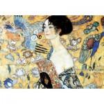 Puzzle en Bois découpé à la Main - Gustav Klimt - La Dame à l'Eventail