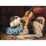 Puzzle en Bois découpé à la Main - Henriette Ronner-Knip - Leçon de Guitare
