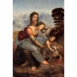 Puzzle en Bois découpé à la Main - Léonard de Vinci - Vierge à l'Enfant et Sainte Anne