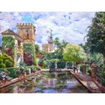 Puzzle en Bois découpé à la Main - Manuel Garcia y Rodriguez - Le Bassin d'Alcazar