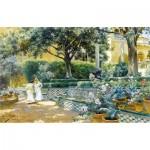 Puzzle en Bois découpé à la Main - Manuel Garcia y Rodriguez - Les Jardins de l'Alcazar