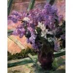 Puzzle en Bois découpé à la Main - Mary Cassatt - Lilas à la Fenêtre
