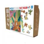 Puzzle en Bois découpé à la Main - Robert Delaunay - Tour Eiffel