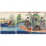 Puzzle en Bois découpé à la Main - Utagawa Kunisada - La Barque