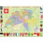 Puzzle  Puzzle-Michele-Wilson-W77-50 Carte de la Suisse