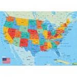Puzzle-Michele-Wilson-W84-50 Puzzle en Bois - Carte des Etats-Unis
