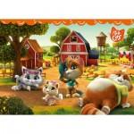 Ravensburger-03015 Puzzle Géant de Sol - 44 Cats