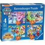 Ravensburger-03029 4 Puzzles - Pat Patrouille