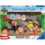 Ravensburger-03038 Puzzle Géant de Sol - Monchhichi