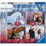 Ravensburger-03064 4 Puzzles - La Reine des Neiges 2