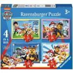 Ravensburger-03065 4 Puzzles - Pat Patrouille