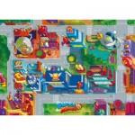 Ravensburger-03075 Puzzle Géant de Sol - Super Zings