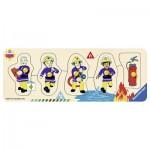 Ravensburger-03237 Puzzle en Bois - Sam le Pompier
