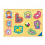 Puzzle  Ravensburger-03680 Encastrement en Bois - Karsten et Petra
