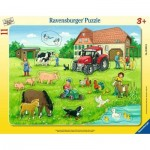 Ravensburger-05024 Puzzle Cadre - Jour d'été à la Ferme