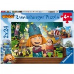 Ravensburger-05070 2 Puzzles - Wickie
