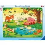 Ravensburger-05075 Puzzle Cadre - Animaux de la Ferme