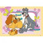 Ravensburger-05087 2 Puzzles - La Belle et le Clochard - 101 Dalmatiens