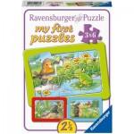 Ravensburger-05138 Puzzle Cadre - Petits Animaux du Jardin (3x6 Pièces)