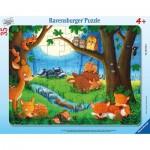 Ravensburger-05146 Puzzle Cadre - Les Petits Animaux vont au Lit