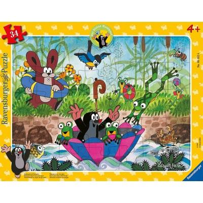 Ravensburger-05152 Puzzle Cadre - Garden Friends