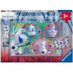 Ravensburger-05153 2 Puzzles - Olaf