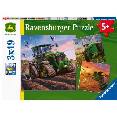 Ravensburger-05173 3 Puzzles - Seasons of John Deere