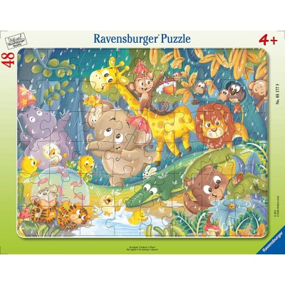 Ravensburger-05177 Puzzle Cadre - It's Raining
