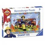 Ravensburger-05521 Puzzle Géant de Sol - Sam le Pompier