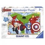 Ravensburger-05522 Puzzle Géant de Sol - Marvel