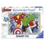 Ravensburger-05523 Puzzle Géant de Sol - Marvel