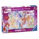 Puzzle  Ravensburger-05526 Tapis Géant de Sol - Winx