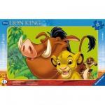 Ravensburger-06008 Puzzle cadre - Le roi lion : Simba, le lionceau