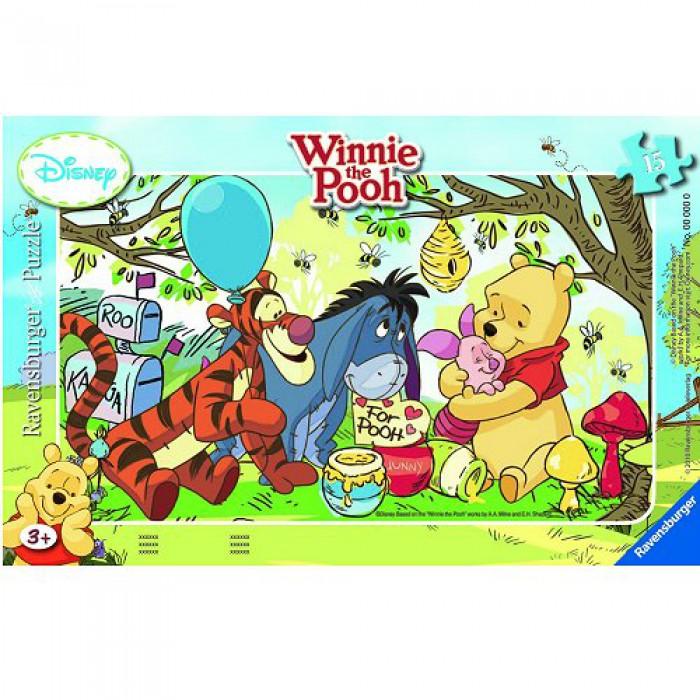 Puzzle Cadre - Winnie l'ourson : La fête du miel