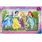 Ravensburger-06047 Puzzle cadre - La promenade des princesses