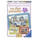 Ravensburger-06115 3 Puzzles Cadres - Les Secours