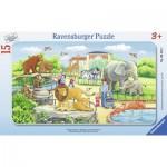 Ravensburger-06116 Puzzle Cadre - Voyage au Zoo