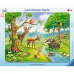 Ravensburger-06138 Puzzle Cadre - Animaux de la Forêt