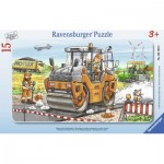 Ravensburger-06139 Puzzle Cadre - Travailler avec le Rouleau Compresseur