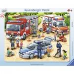 Ravensburger-06144 Puzzle Cadre - Professions Excitantes