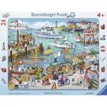 Ravensburger-06152 Puzzle Cadre - Un Jour au Port